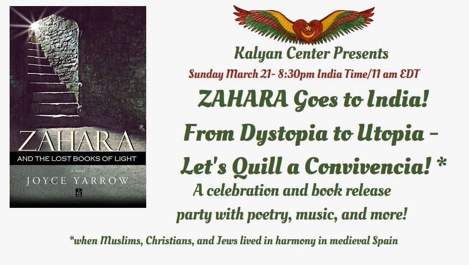 Special Zoom Event 3/21/21:  Zahara Goes to India!